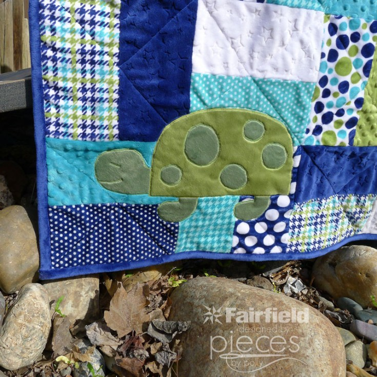Spotty the Turtle Applique Pattern - Fairfield World Craft Projects