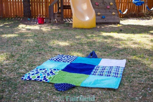 Quilted Baby Travel Pad