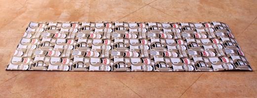 DIY Fabric and Foam Floor Runner