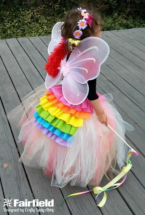 Dress Up Rainbow Ruffled Bustle 1