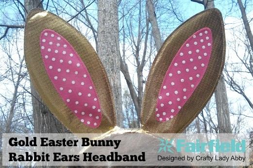 Gold Easter Bunny Rabbit Ears Headband