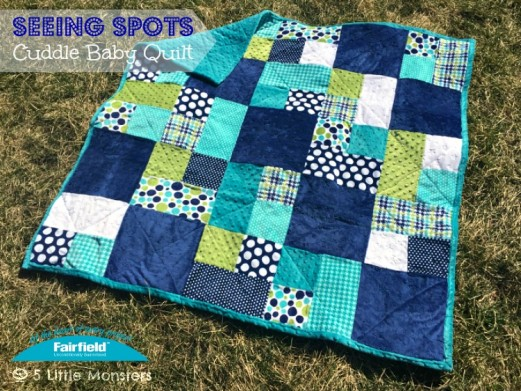 Seeing Spots Cuddle Baby Quilt