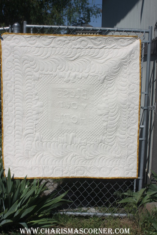 Quilted Vintage Tablecloth make over