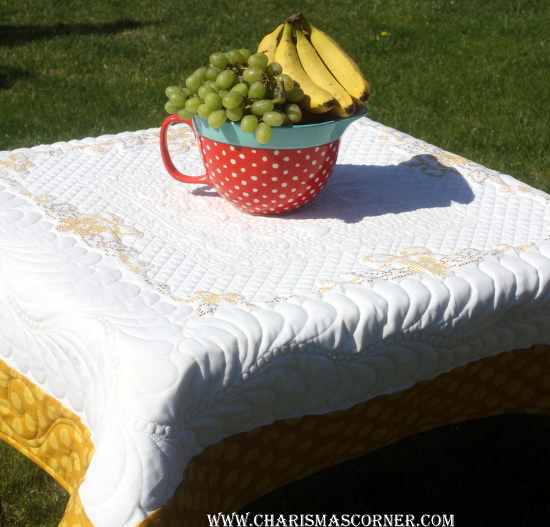 Quilted Vintage Tablecloth