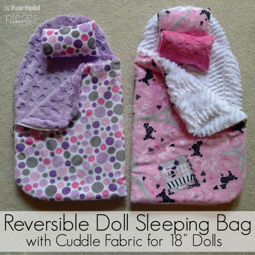 Reversible Doll Sleeping Bag with Cuddle Fabric