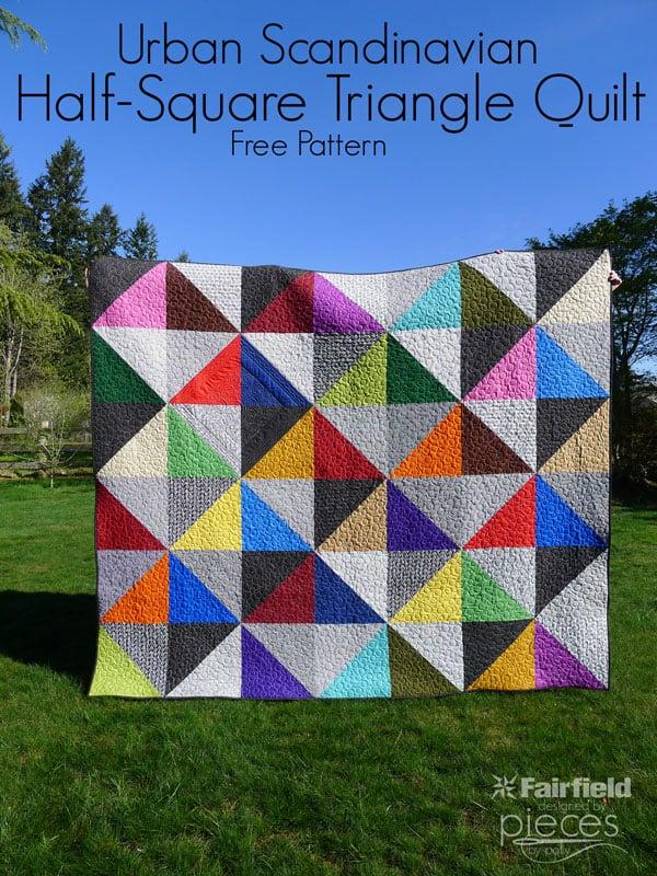 Urban Scandinavian Modern Half-Square Triangle Quilt Pattern ... : triangle quilt patterns - Adamdwight.com