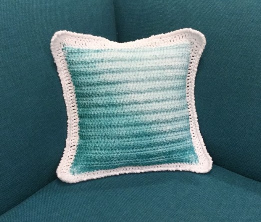 Tinted Crocheted Pillow