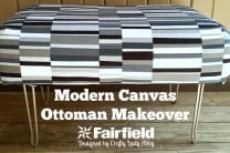 Modern Canvas Ottoman Makeover