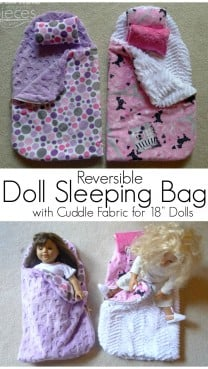 DIY Reversible Doll Sleeping Bag