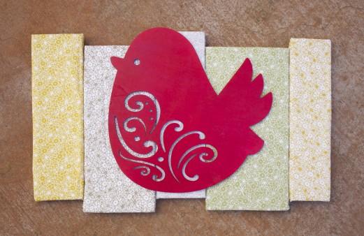 Pretty Bird Fabric Wall Art