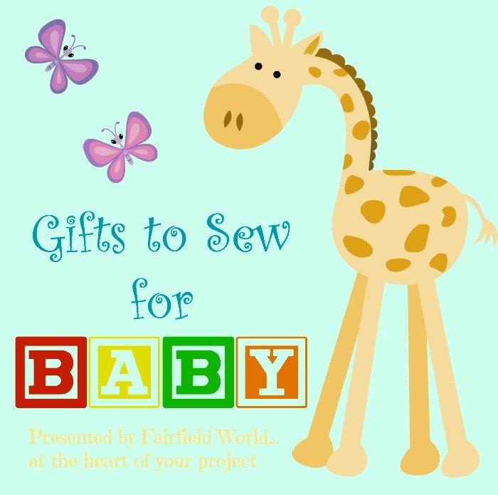 A list of baby gift items you can sew: hand sewn gifts for baby to wear, gifts for parents, and custom crafted baby toys that little hands can love!
