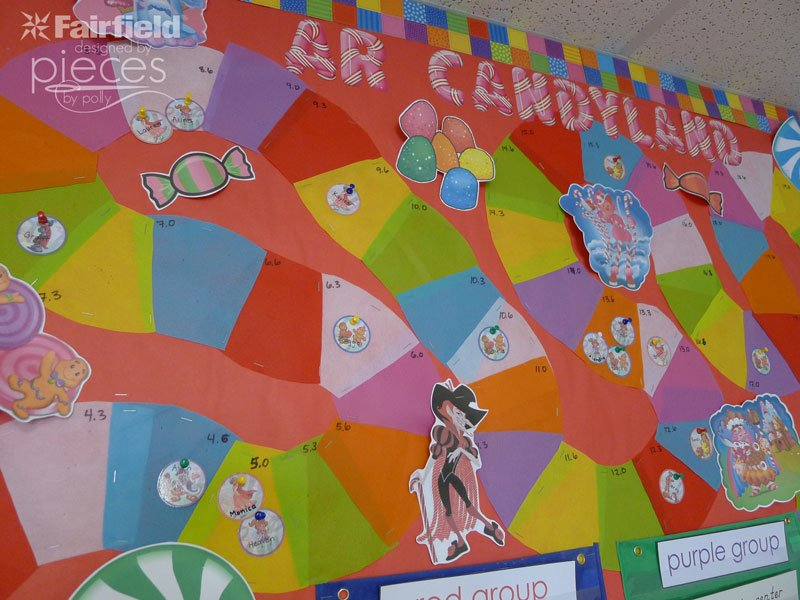 Use Oly-Fun to Make a Candy Land Reading Bulletin Board