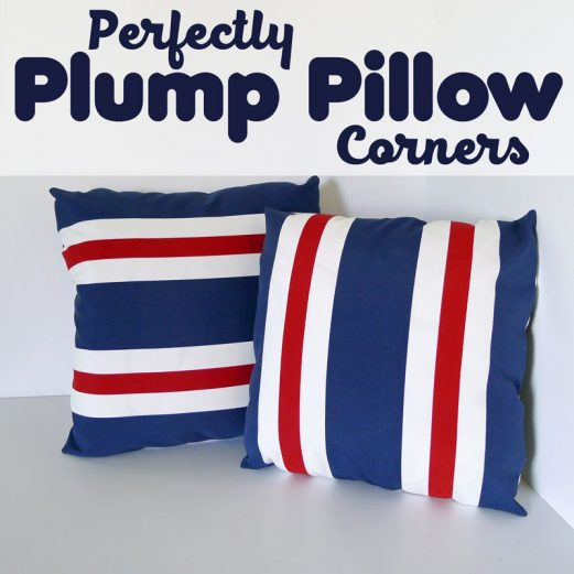 Perfectly Plump Pillow Corners