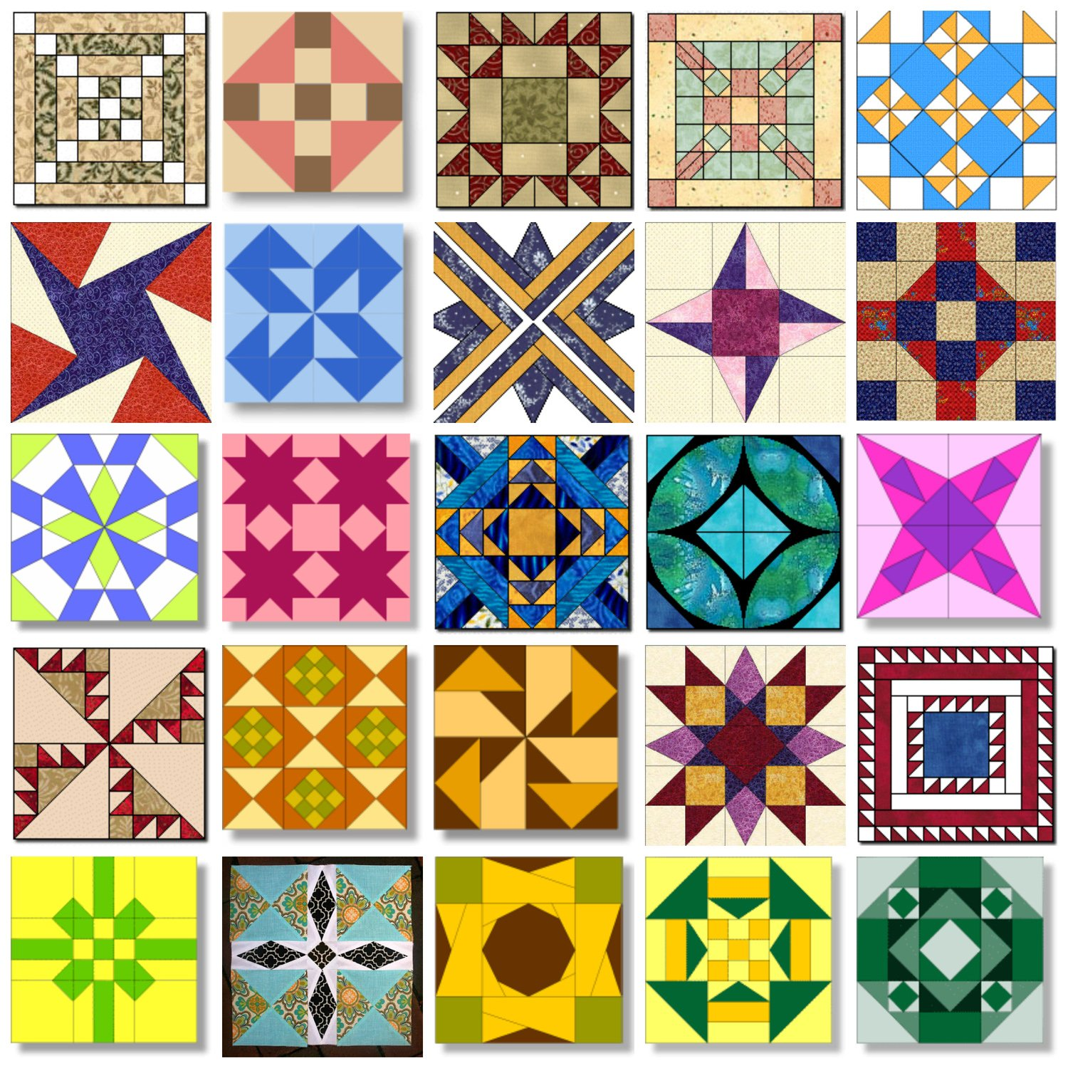 photo relating to Free Printable Hawaiian Quilt Patterns named 50 Region Quilt Block Types - Fairfield Environment Web site