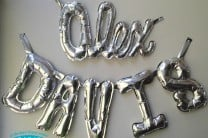 DIY Silver OlyFun Letter Party Balloons