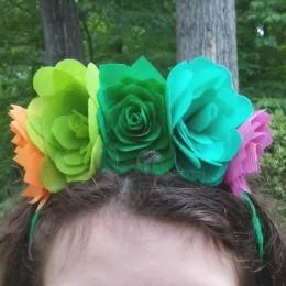 OlyFun Desert Flowers and Succulents Headband 11