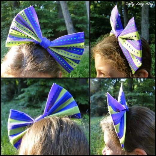 OlyFun Striped Polka Dot Bow
