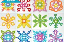Rainbow Fabric Snowflakes