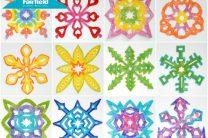 Rainbow Fabric Snowflakes