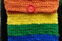 Rainbow Crocheted OlyFun Crossbody Bag