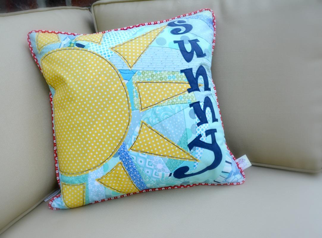 fabric scrap pillow cover