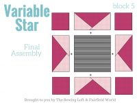 Variable star sewing instructions for Starry Night Sampler Quilt