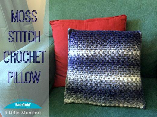 Moss Stitch Crochet Pillow