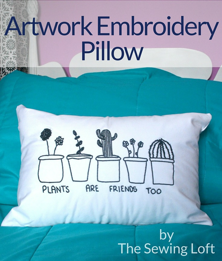 kids Artwork-Pillow- with Embroidery