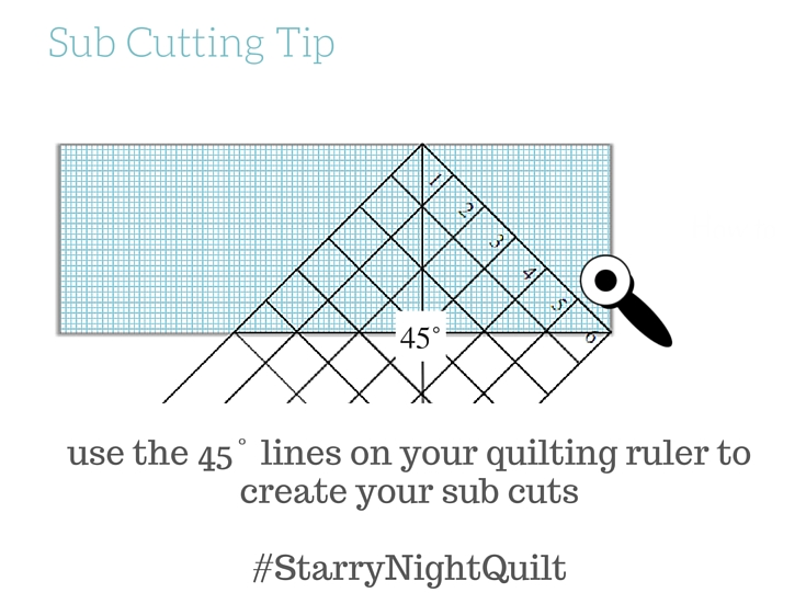 Create sub cuts for the Starry Night Quilt Sampler with this easy tip.