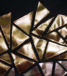 Geometric Metallic Ombre Pillow 1