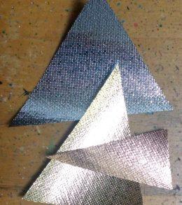 Geometric Metallic Ombre Pillow 5