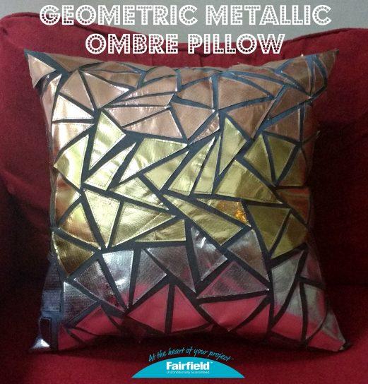 Geometric Metallic Ombre Pillow