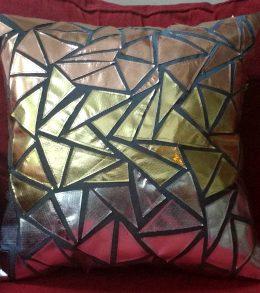 Geometric Metallic Ombre Pillow 7