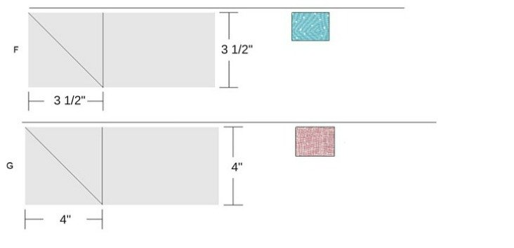 Sub cutting instructions for Diamond Sky Block 6 in the Starry Night Quilt Sampler Series.