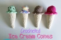 Crocheted Ice Cream Cones