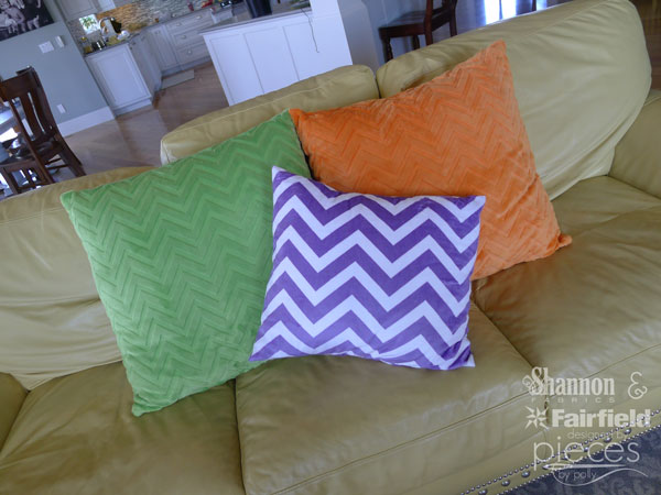 Simplify your pillow-making with tape-basted zippers.