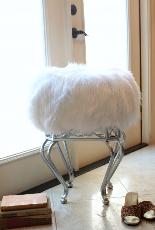 Furry Bench Stool