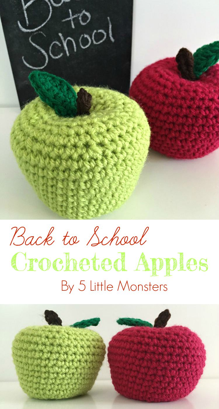 back to school crocheted apples