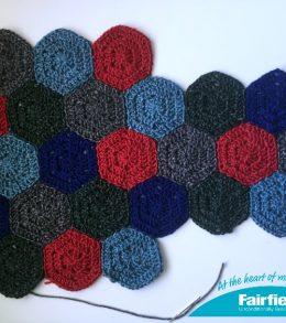 hexagon pillow layout
