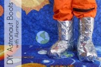 Silver Astronaut Moon Boots