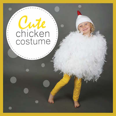 Halloween costumes made with poly fil fairfield world blog diycute chicken costumecover solutioingenieria Images