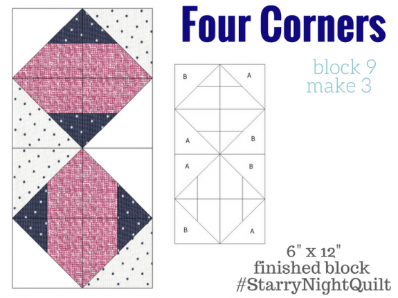Starry Night Quilt Sampler Block 9 Art