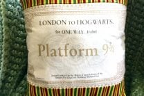 Ticket to Hogwarts Pillow