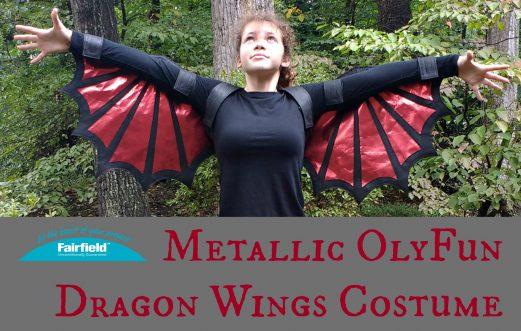 Metallic OlyFun Dragon Wings Costume