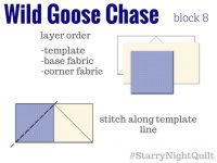 Starry Night Sampler Wild Goose Chase Sewing Instructions