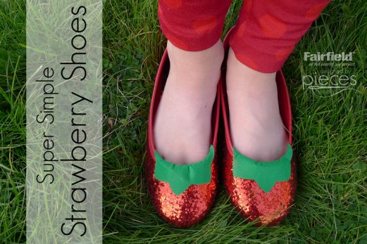 Strawberry Shoes Embellished with Oly-Fun