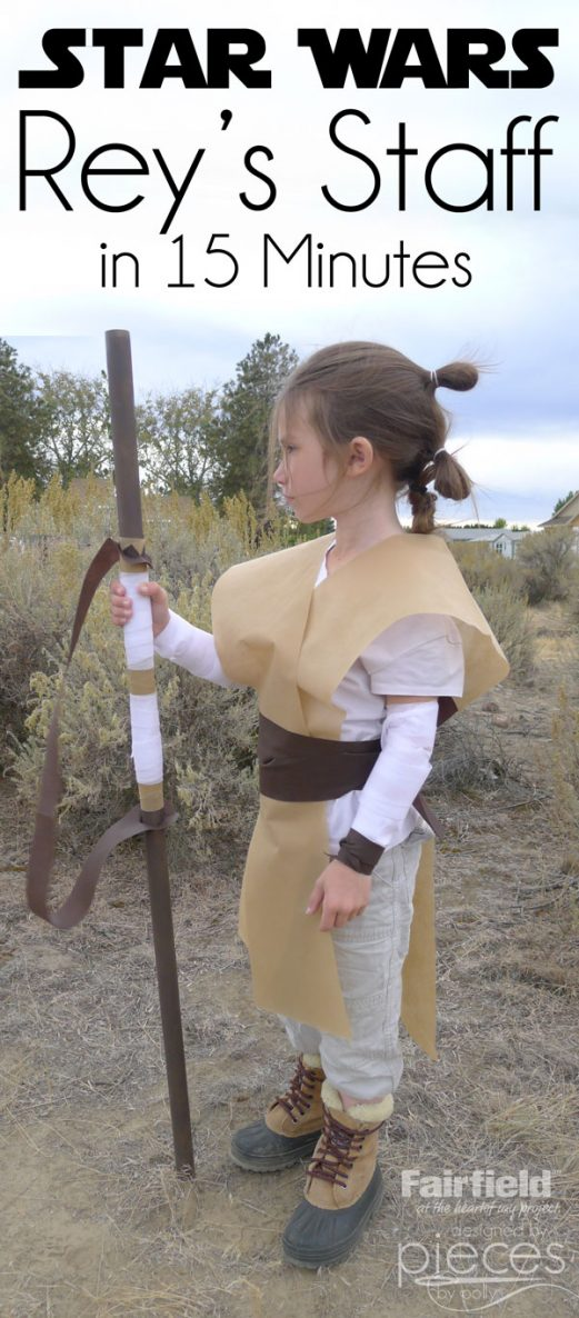 Rey's Staff - Star Wars Costume - The Force Awakens - 15 Minute Project