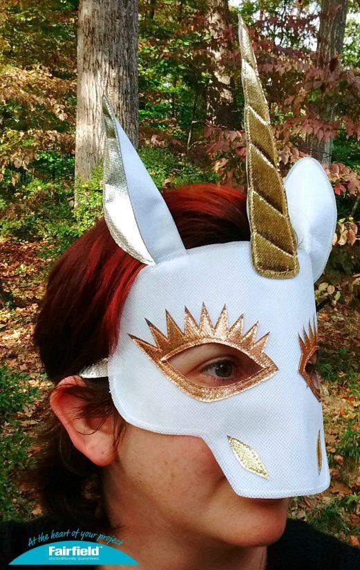 Golden Unicorn Costume Mask