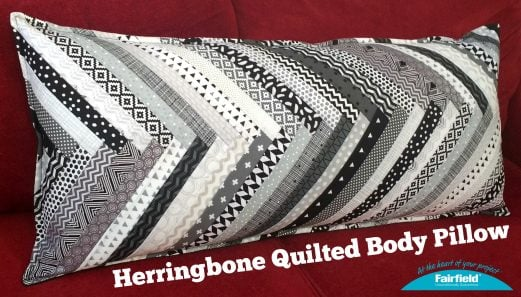 Herringbone Quilted Body Pillow