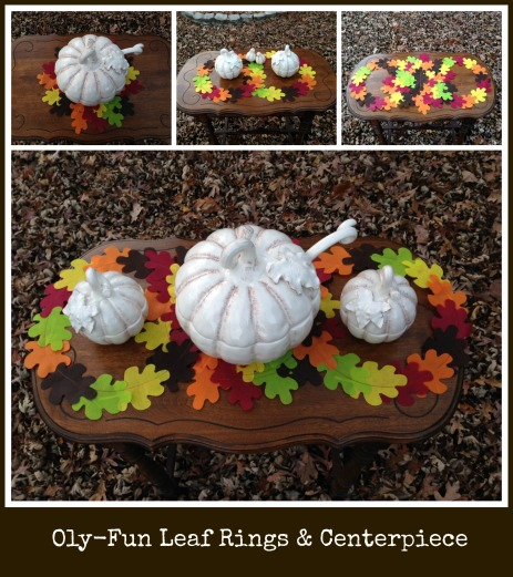 Oly-Fun™ Leaf Rings & Place Setting